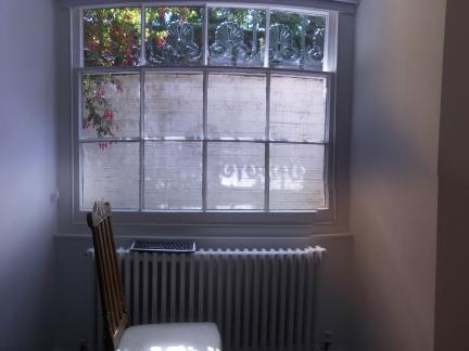 Lower ground floor windows and radiators restored
