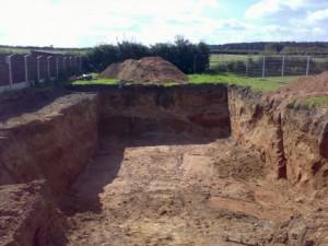 Large deep excavation