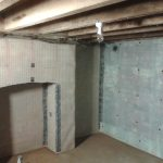 Cavity drainage membrane applied to all walls