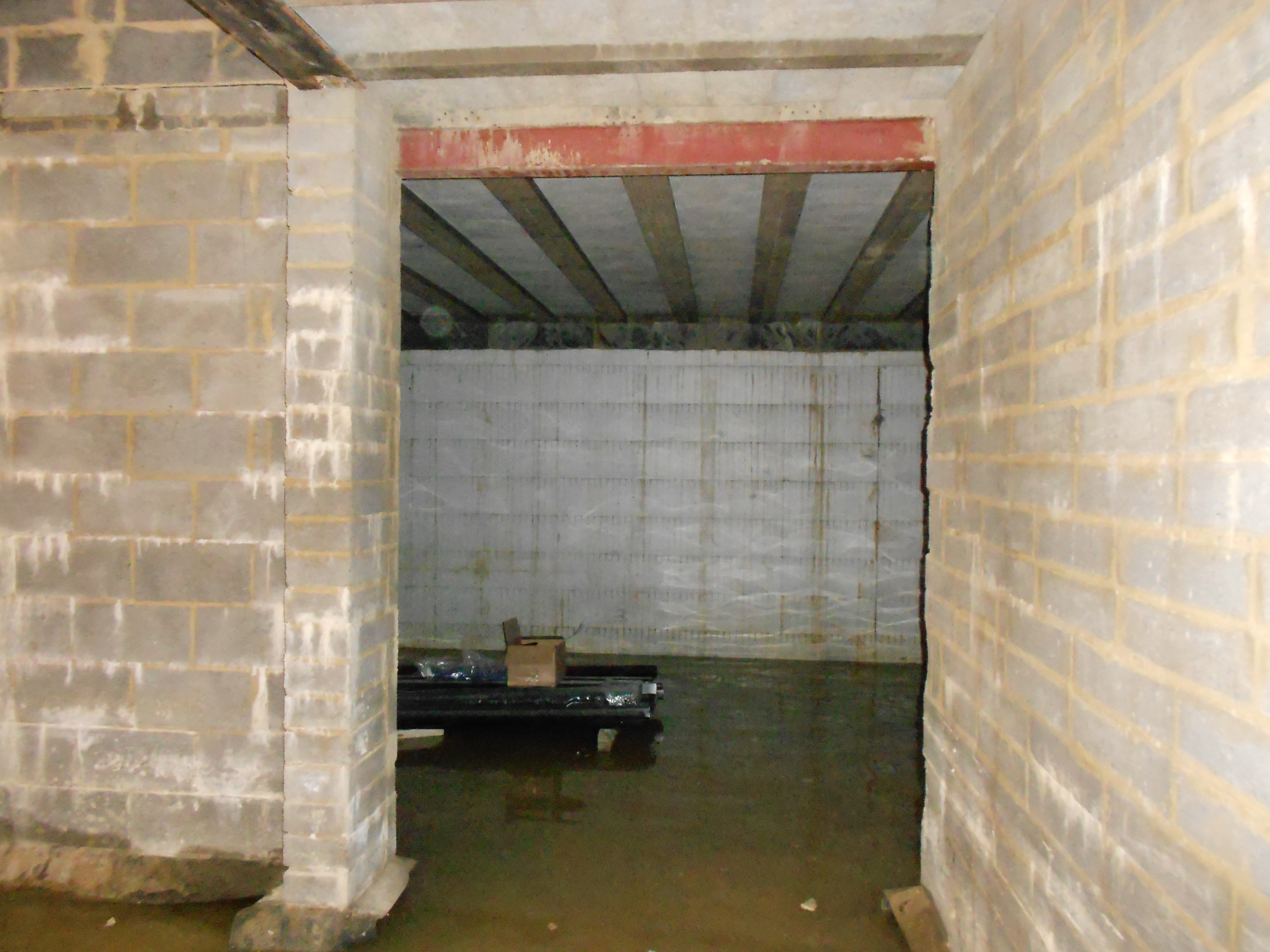 Work on site halted waiting for basement to be waterproofed