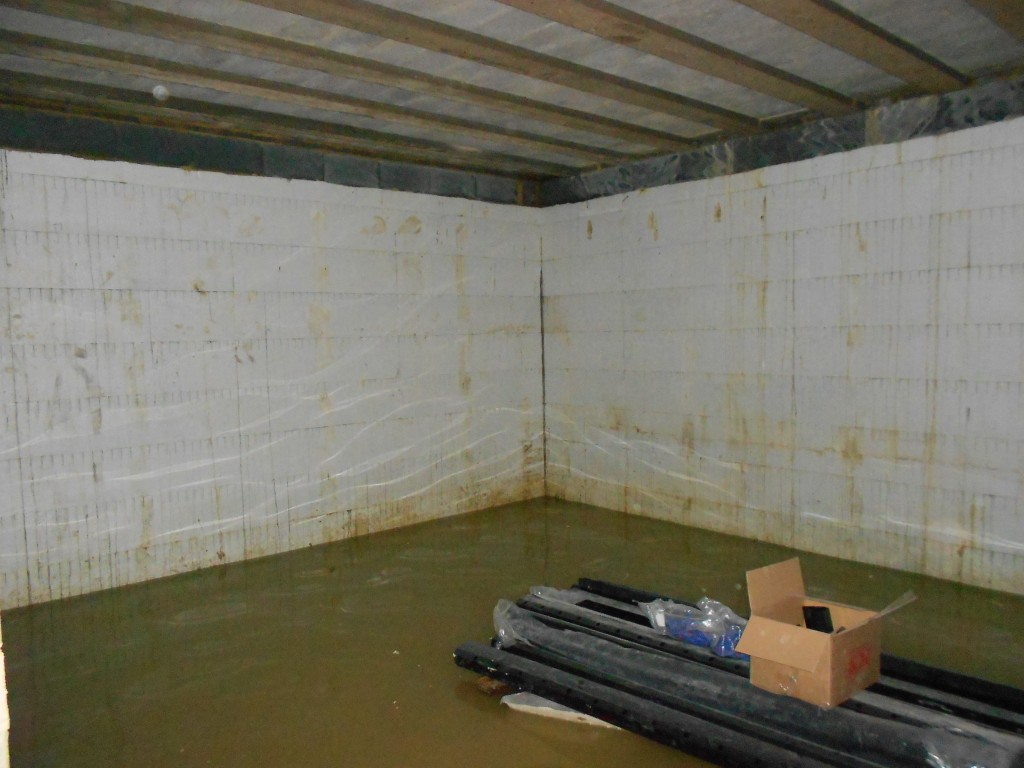 Basement flooding to around 450mm