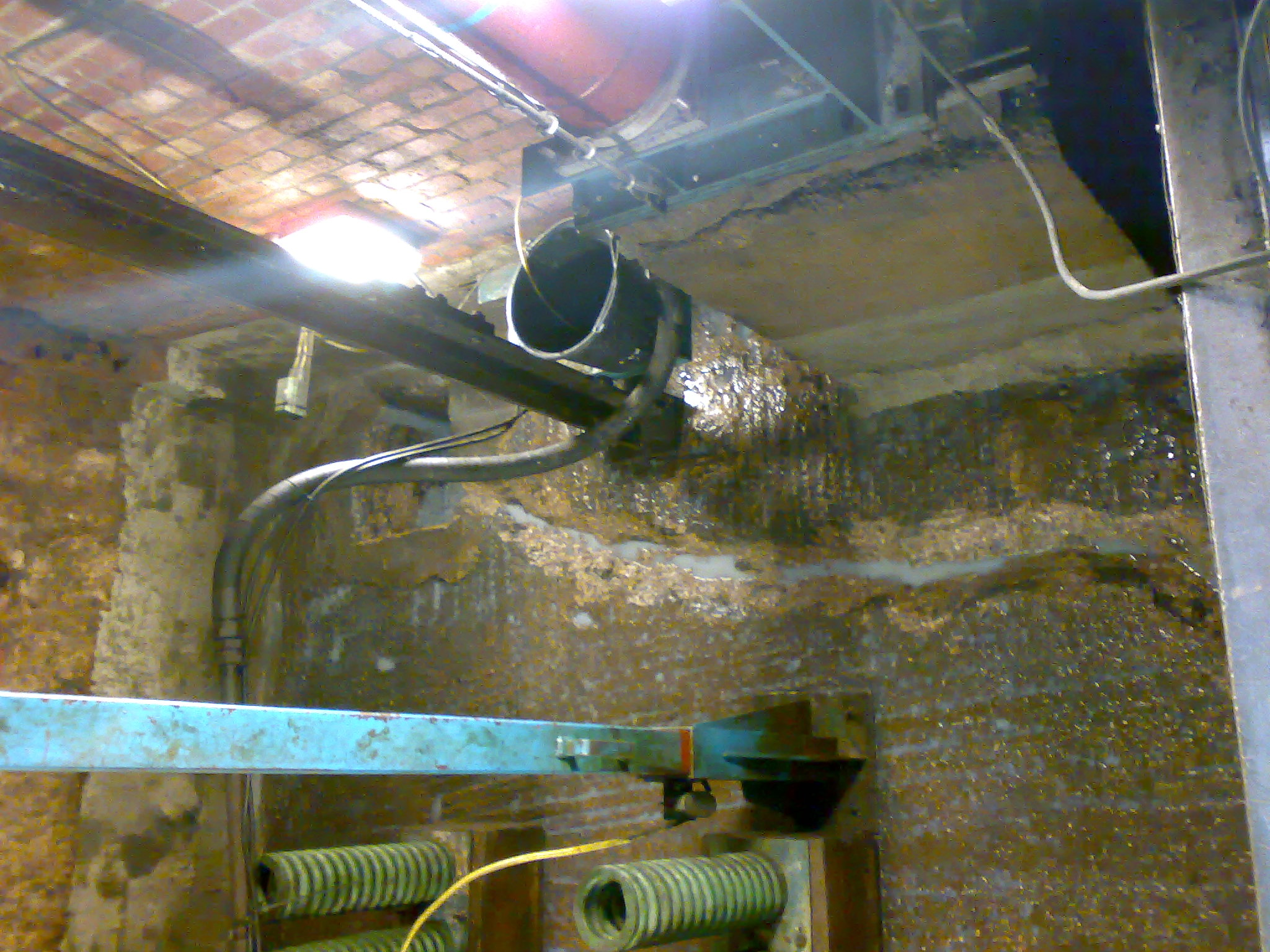 Channels created to move water to sump