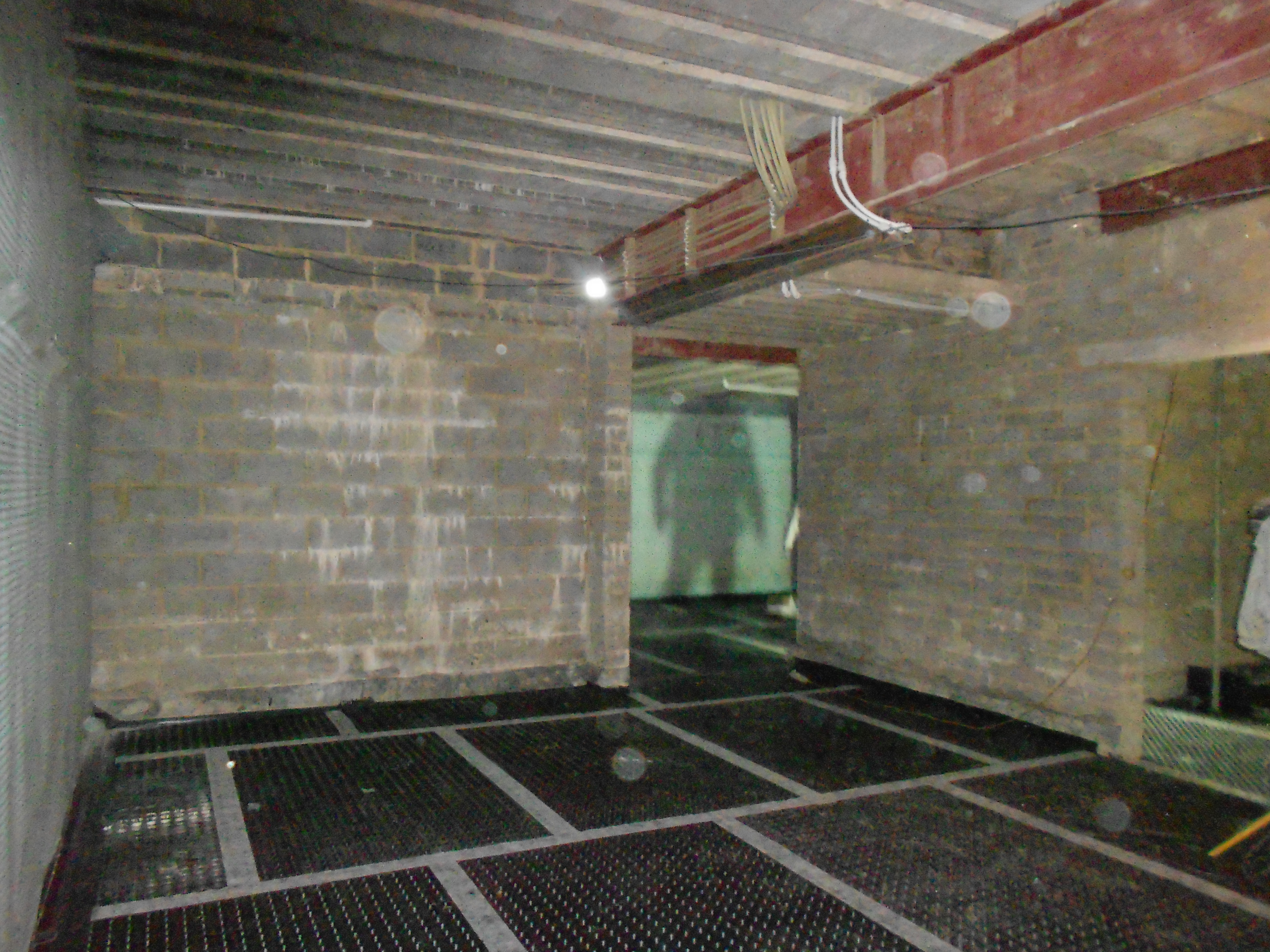 Internal walls damp proofed and linked with external wall waterproofing