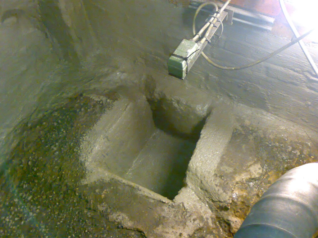 Sump repaired and waterproofed