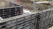 Temporary formwork used to pour concrete walls