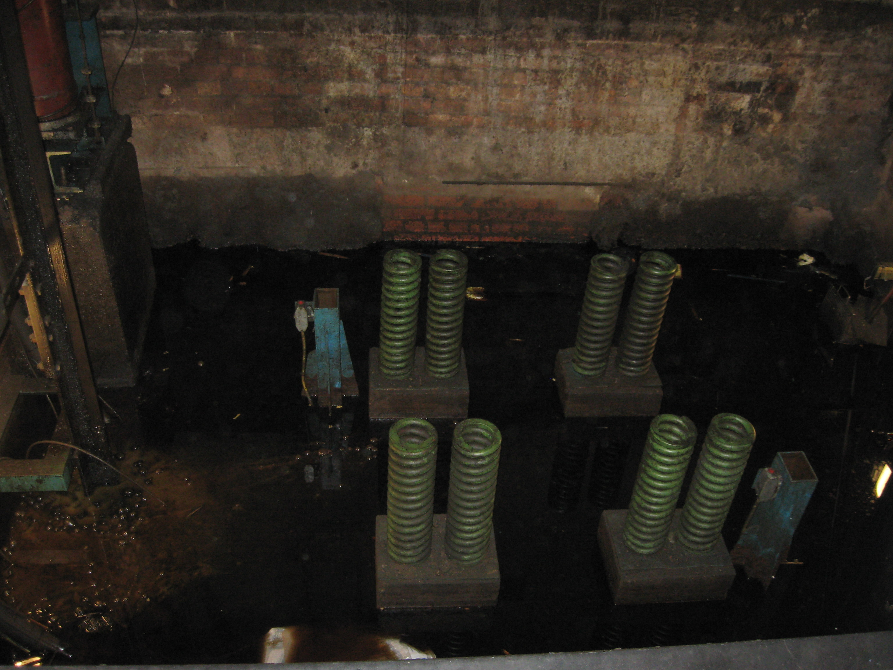 Up to 300mm of water in the base of a lift pit
