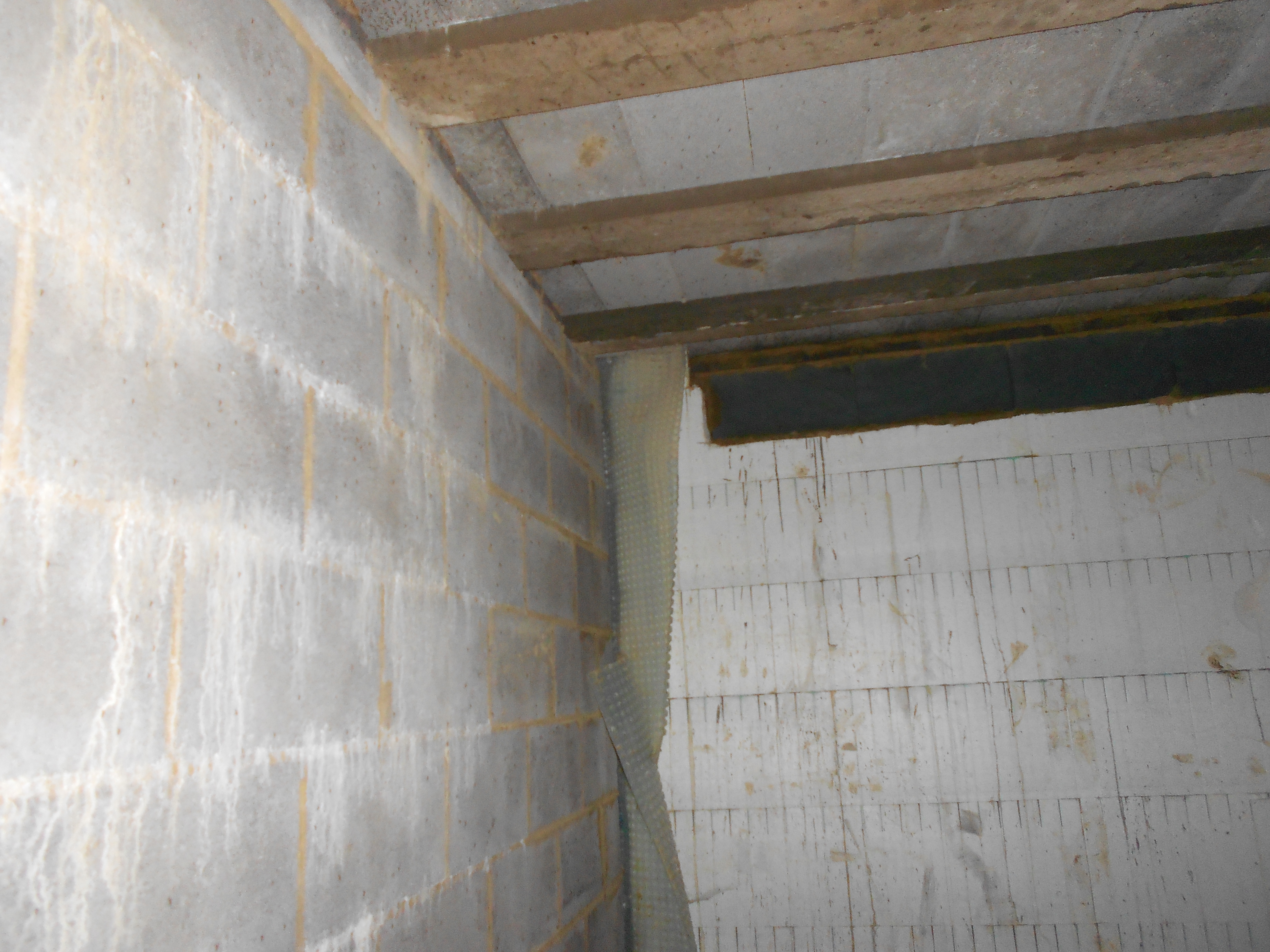 No waterproofing design was considered until the project was complete