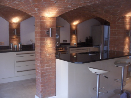 New kitchen created in old pub cellar
