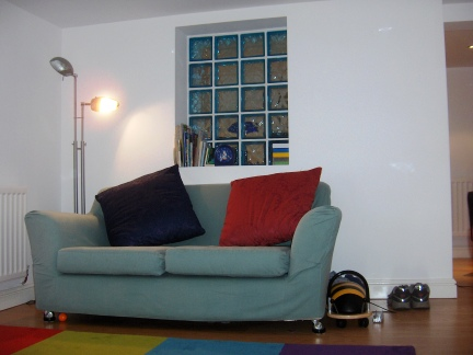 Living space and games room