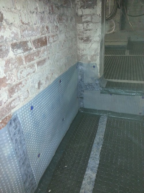 Changes in levels with all membranes taped and sealed