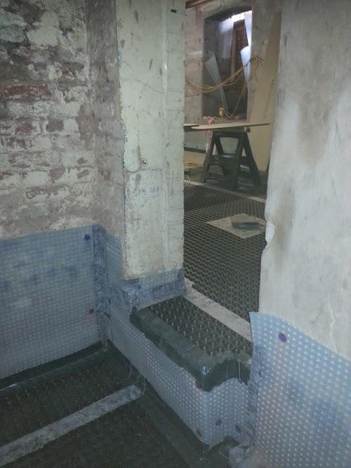 Internal doorways waterproofred