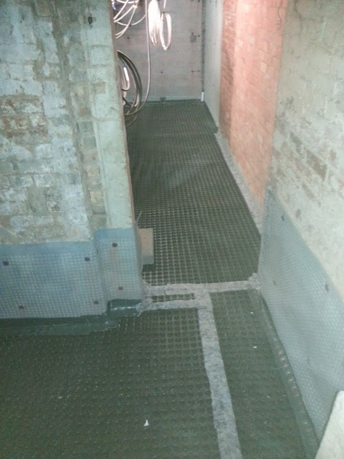 Entrances to both apartments waterproofed