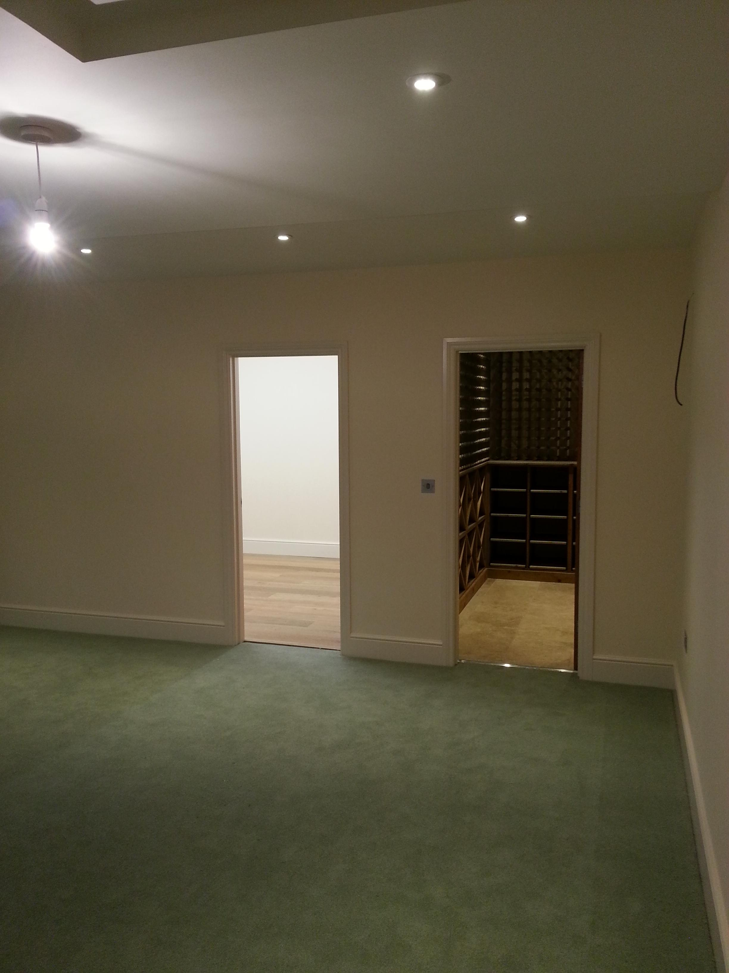 Basement that includes cinema, games room and wine cellar