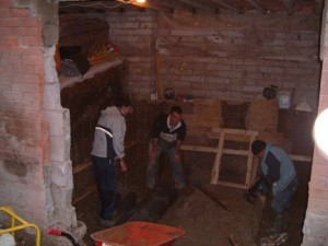Excavations carried out by hand