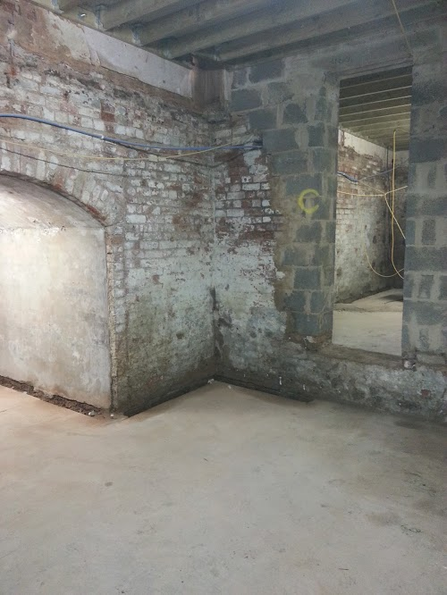 New doorways created to allow for conversion to apartments