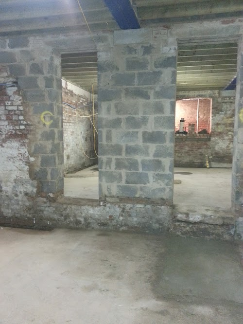 Localised changes in level removed and concreted