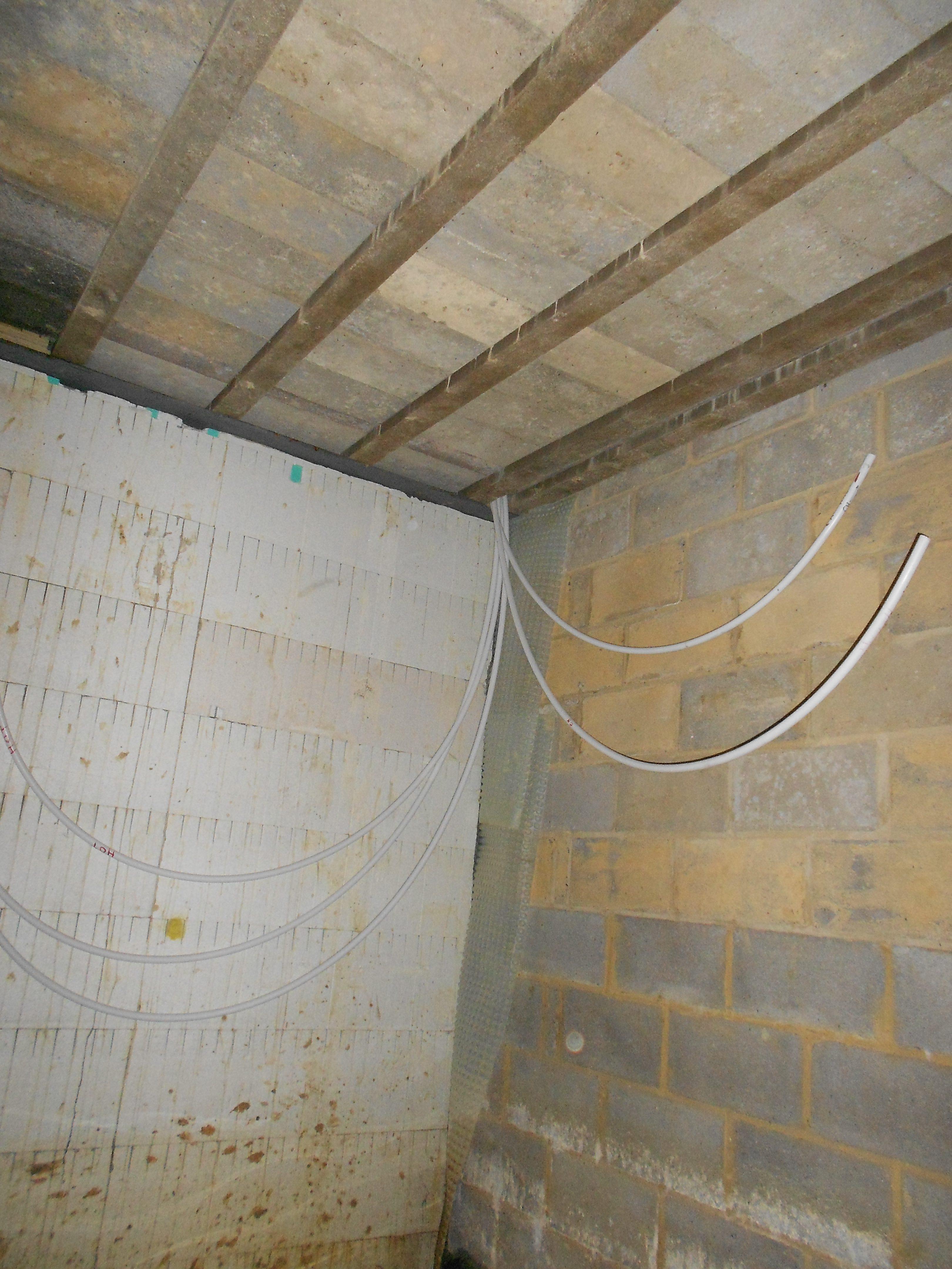 Water leaking through ICF blocks