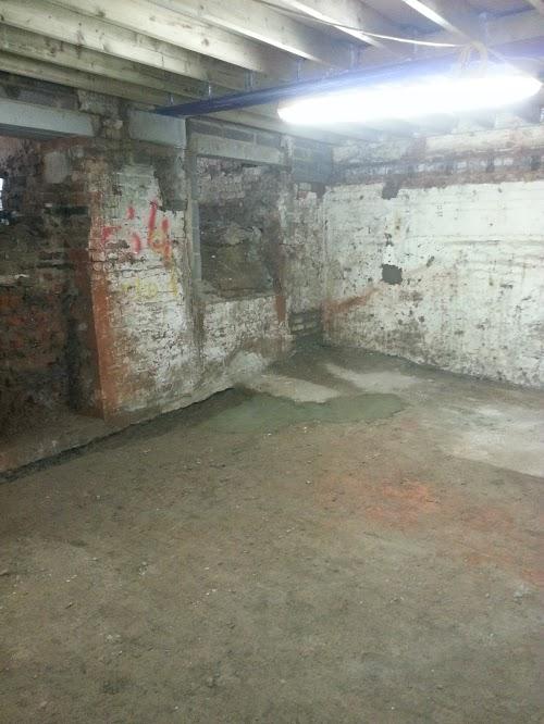 New internal doorways opened and brick work repaired locally