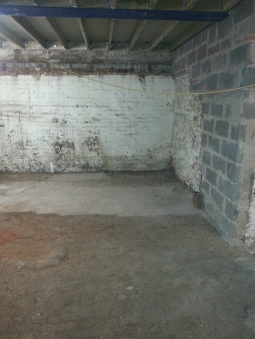 Concrete floor repaired locally
