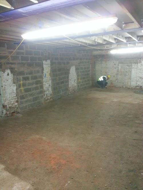 Space cleaned priory to waterproofing works
