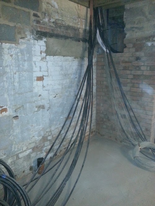 Cables being moved