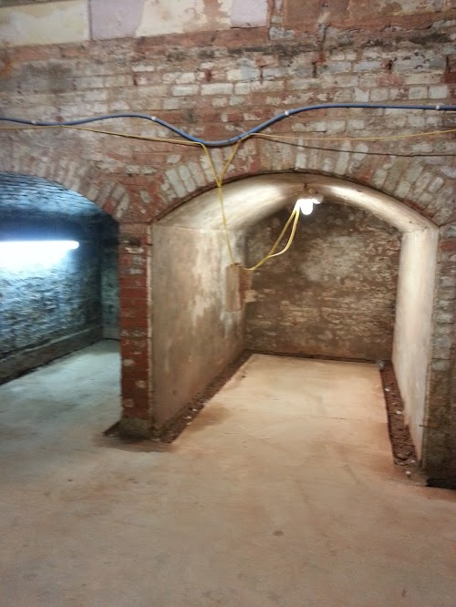 Channel created and the wall/floor junction