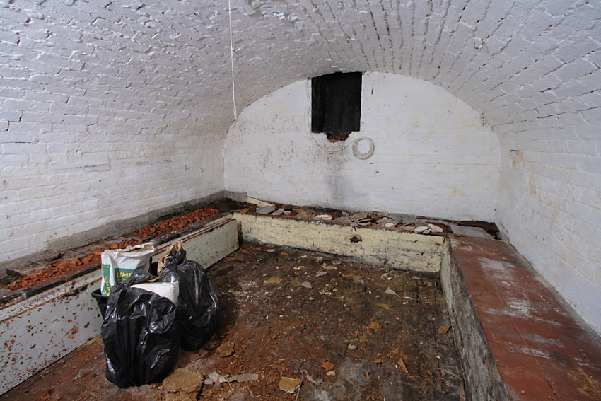 Brick arch basement