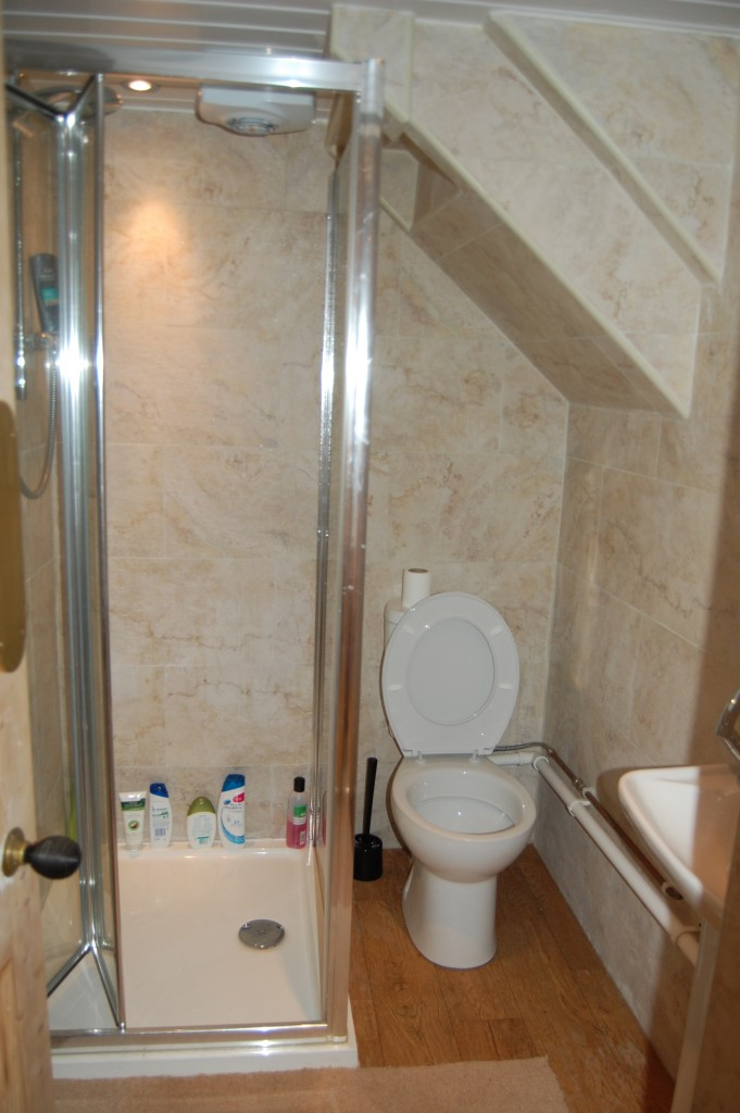 New en-suite bathroom under stairs