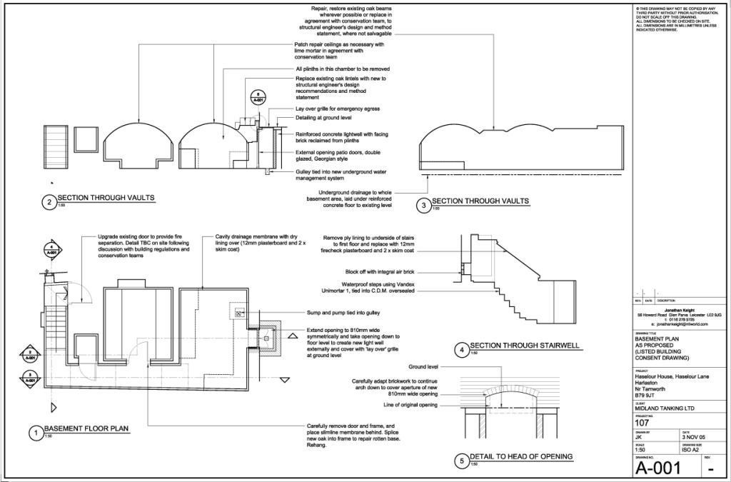 Plans for basement conversion