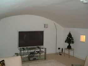 Basement TV room