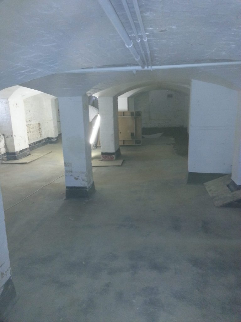 Damp basement under a large manor house