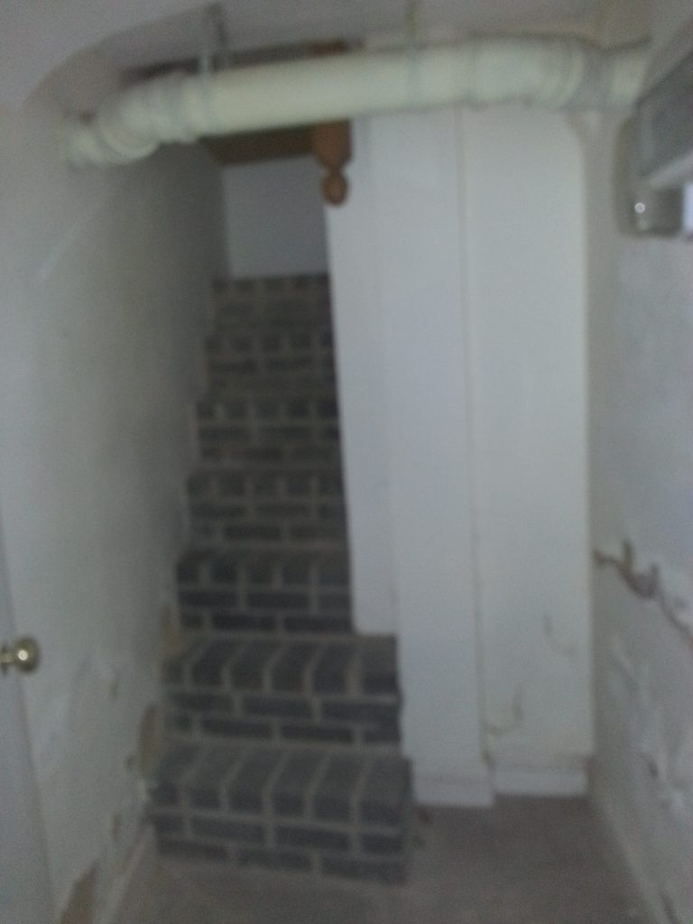 Old internal staircase leading to basement