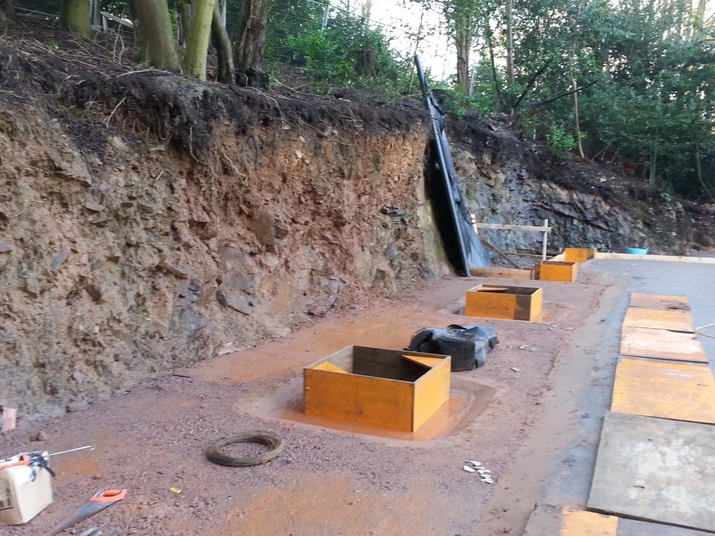 Retaining wall required to hold back collapsing bank