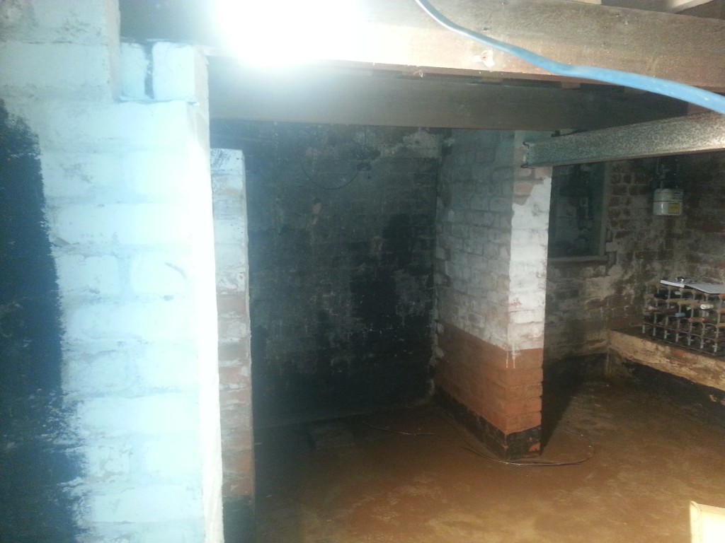 Basement flooded to approx 300mm