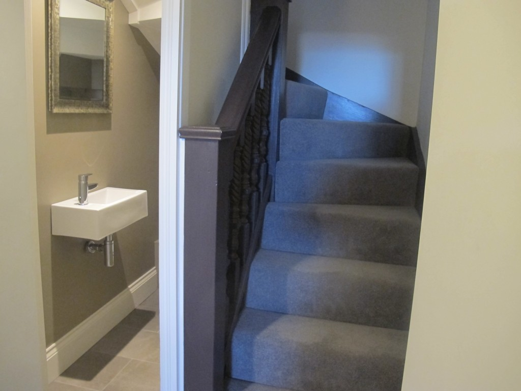 New internal staircase with bathroom underneath