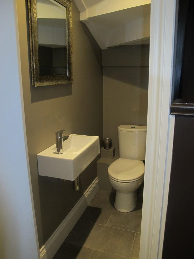 Bathroom under new staircase
