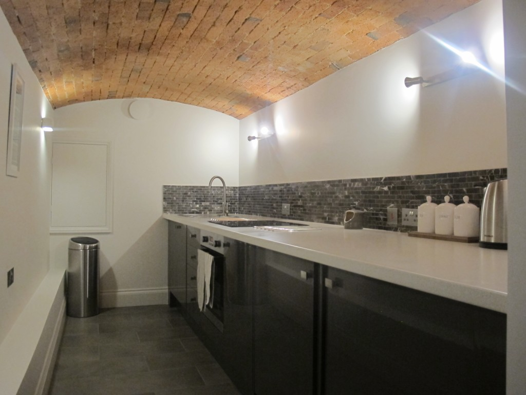 New kitchenette in old utility room space