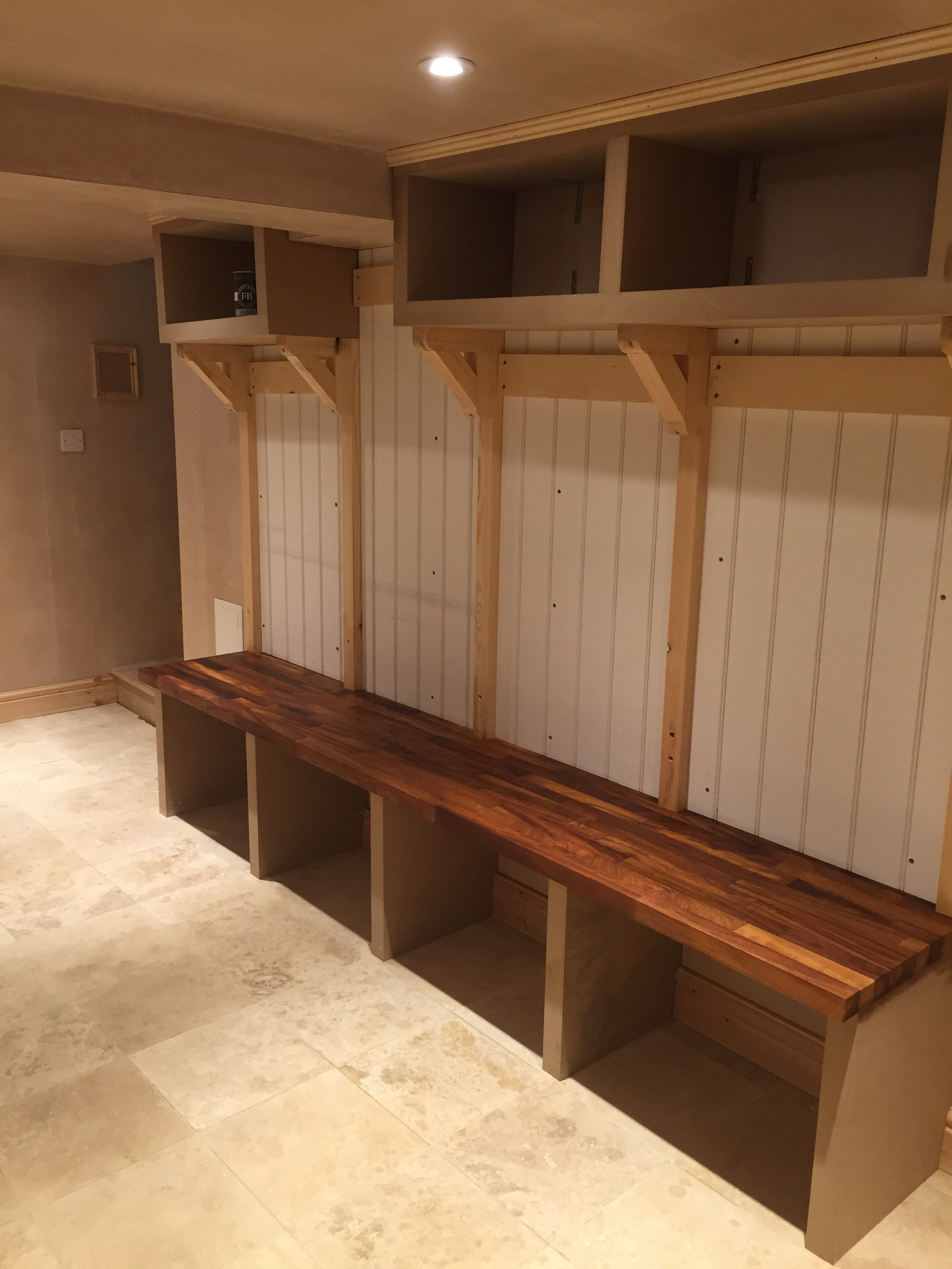 Basement fit out to be boot room & utility room