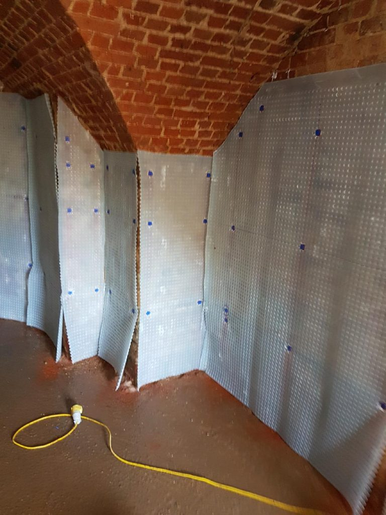 Cavity drainage membrane applied to all external walls
