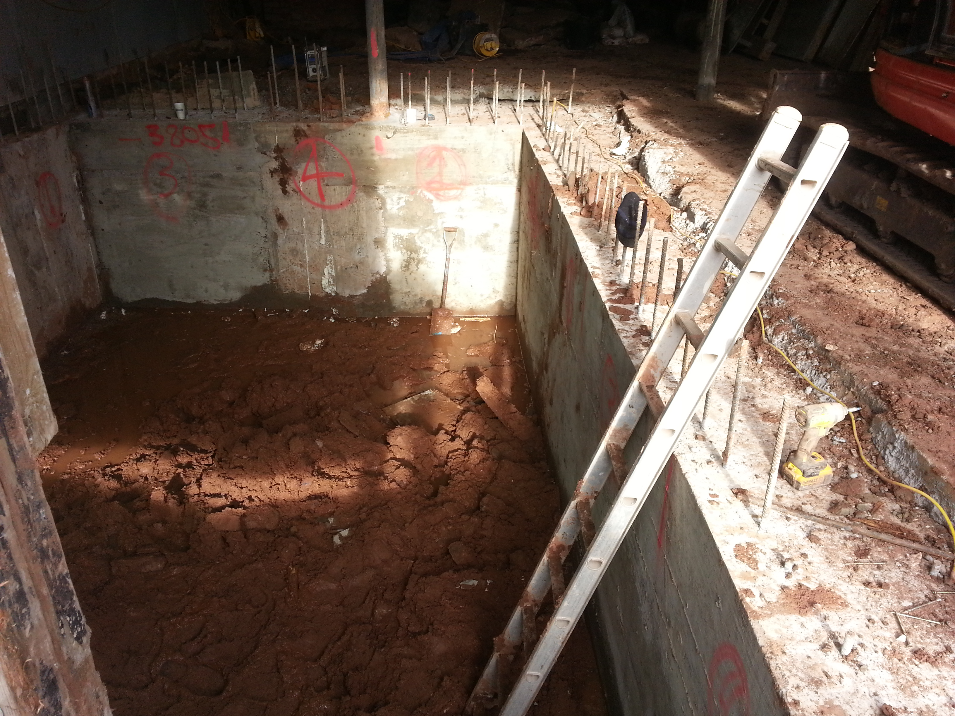Concrete at the top of the ring beam to link to ground floor slab