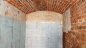 Chemical damp proof course injected at ceiling