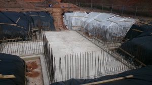 Slab is laid slightly to fall towards the sumps
