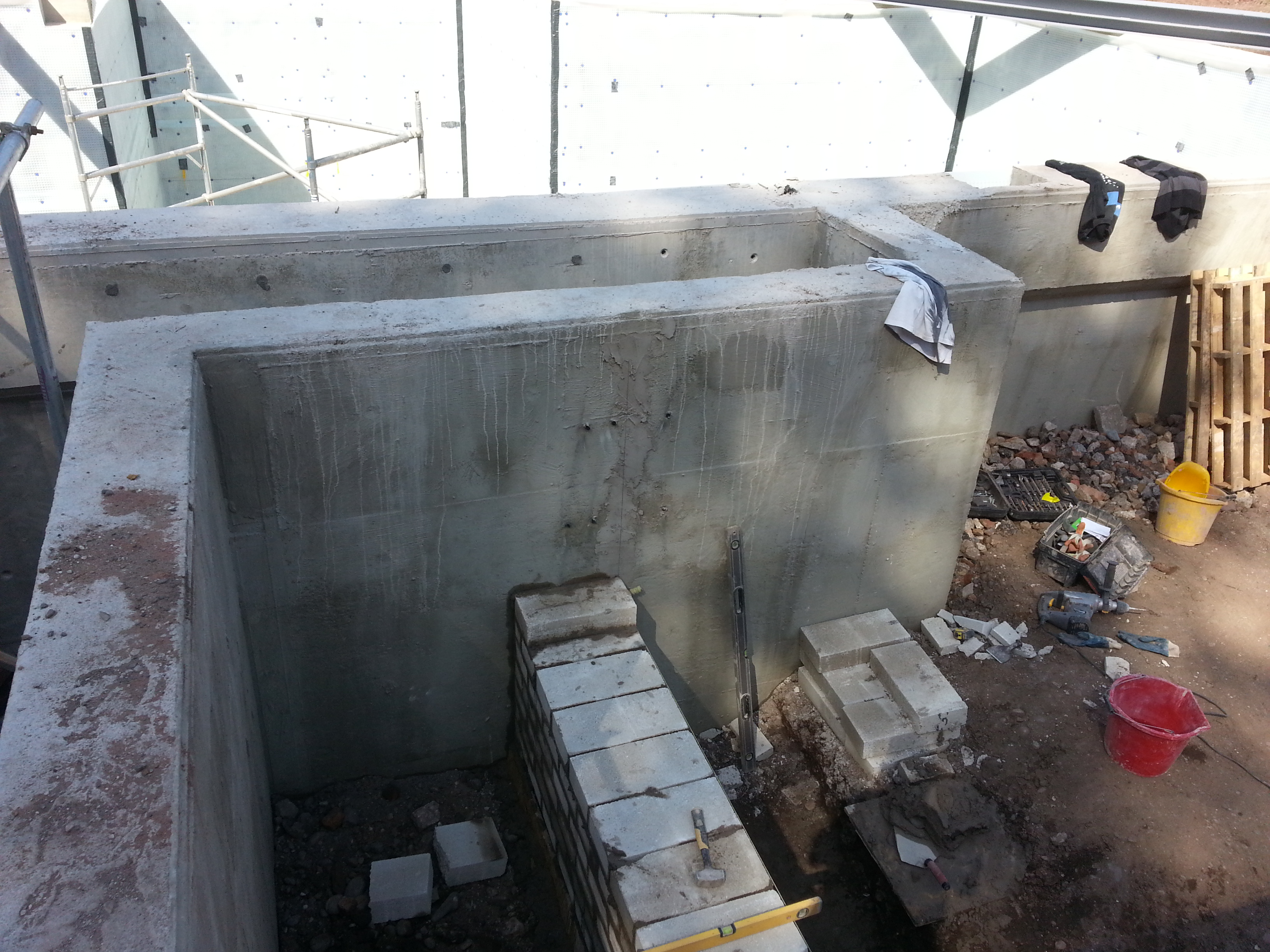 Foundations for the superstructure being created