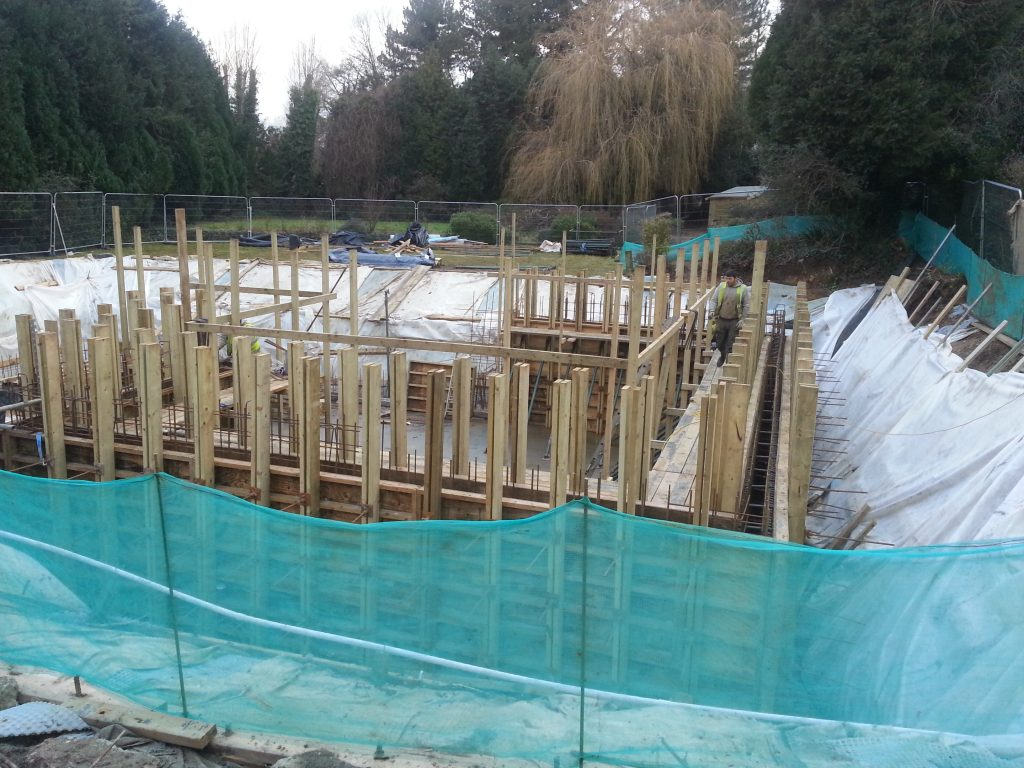 Walls ready for concrete