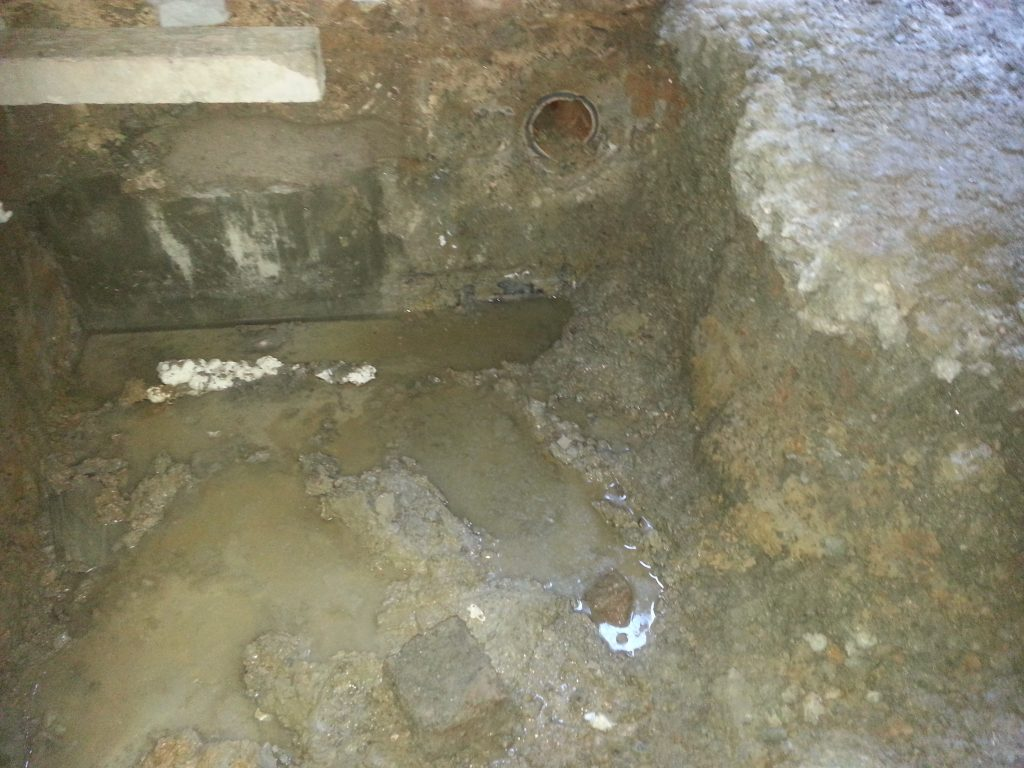 Ground water was a constant issue during the underpinning phase