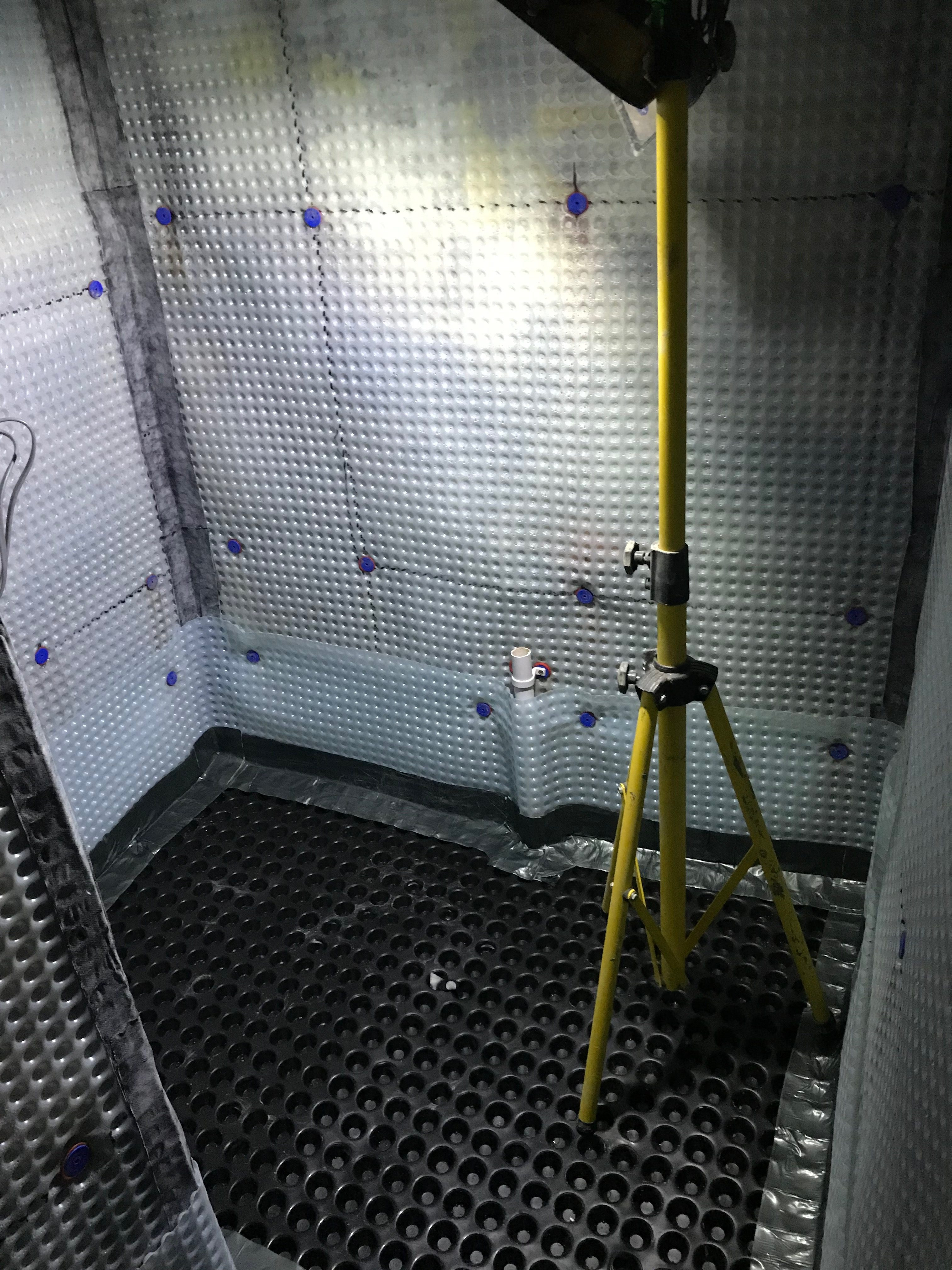 Flushing points embeded in to the membranes for maintenance