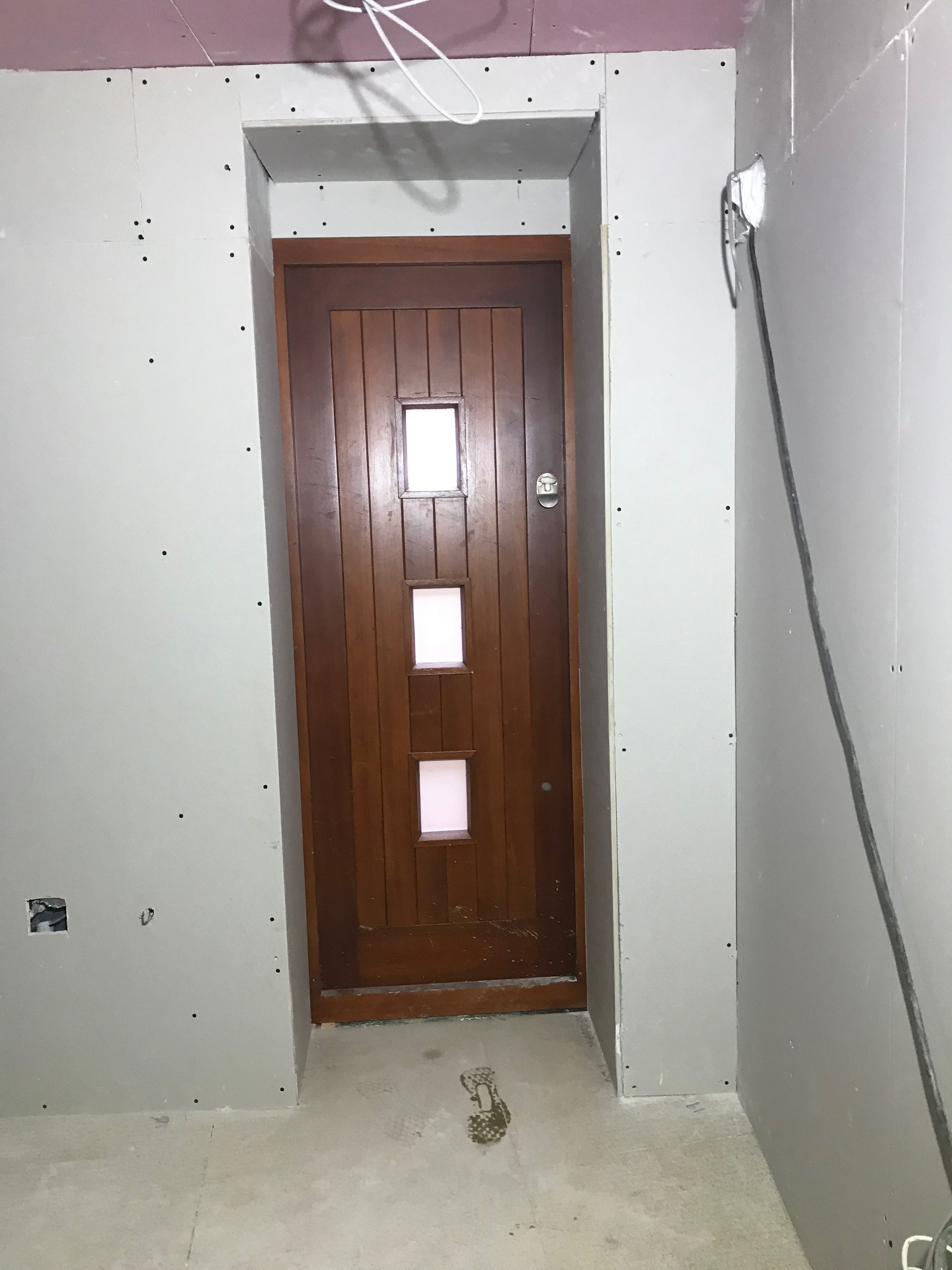 New door leading to external staircase
