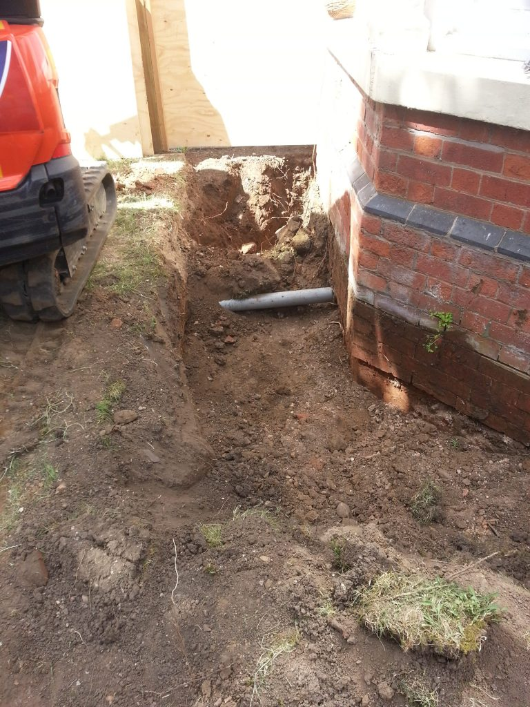 Excavation begins for a new light well