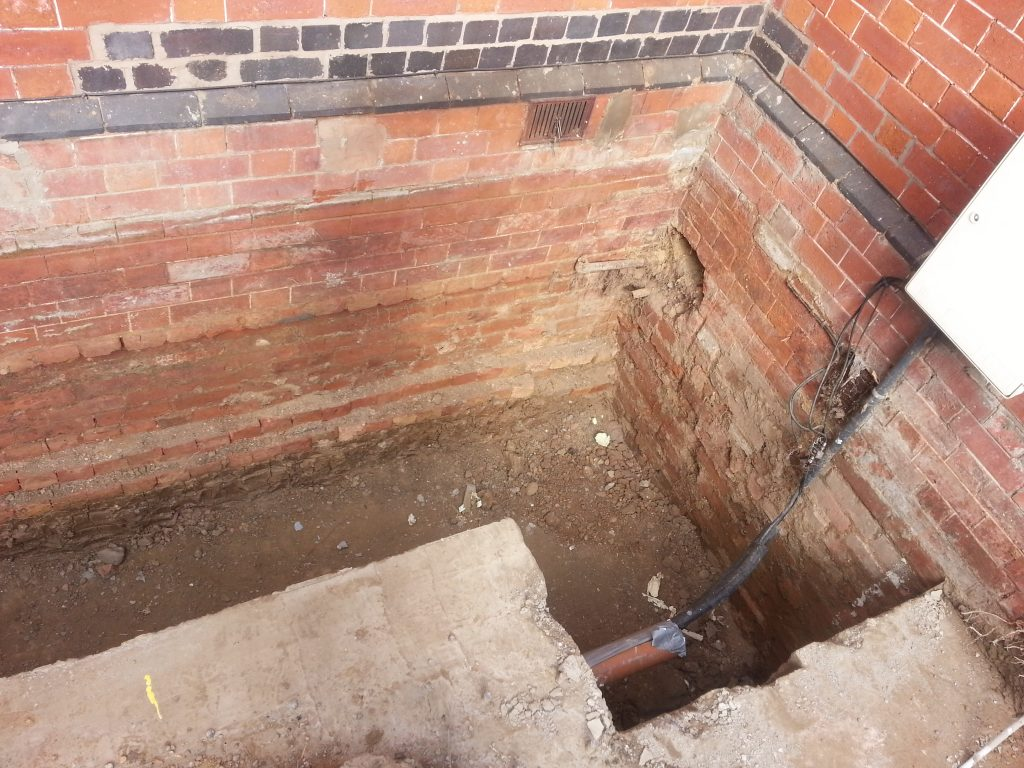 New external stair case being excavated