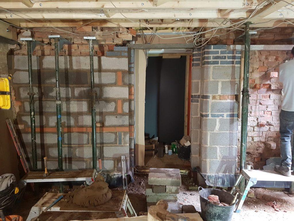 New internal walls